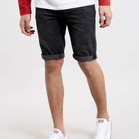 Black Skinny Denim Shorts - Festival Shop - Clothing