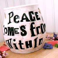 Large Coffee Mug Peace Comes From Within Buddha by LoveArtWorks