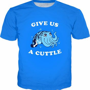 Give Us A Cuttle T-Shirt - Cuttlefish Cute Valentines Day