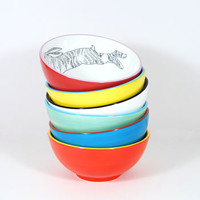 Illustrated Cereal Bowls