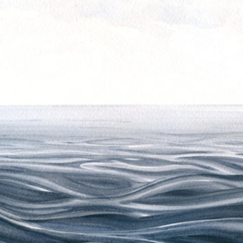 Seascape Original Painting Water Watercolor by ABFoleyArtworks