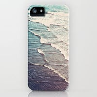 Ocean Waves Retro iPhone Case by Kurt Rahn | Society6