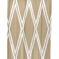 e by design Gate Keeper Geometric Shower Curtain - Brown