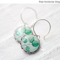 Mint Leaves earrings  (E017)