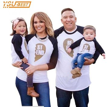 New 2017 Father Son Family T-Shirt Family Look T-Shirt Boy Girl and Mother Top Tees Best Friend Clothes Family Matching Outfits