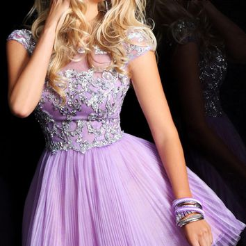 A-Line Appliqued Dress by Sherri Hill