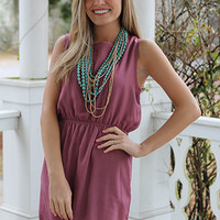 Lulu Scalloped Dress, Mauve
