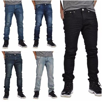 Men's Skinny Fit Jeans Stretch Fabric by Indigo People