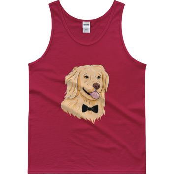 Golden Retriever Tank Top Shirt For Men | Funny Dog Tee | The Jazzy Panda