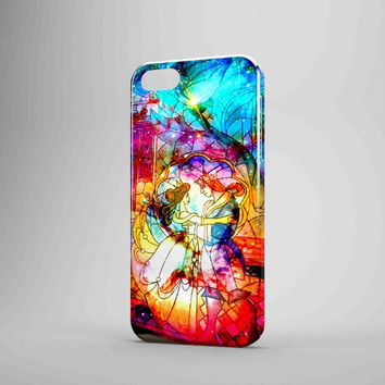 Disney Beauty And The Beast Galaxy Nebula Stained Glass iPhone Case Galaxy Case 3D Case