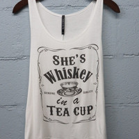 She's Whiskey in a Teacup Graphic Tank