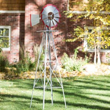 SMV 48A American Style Windmill Decorative Lawn Ornament, 8'