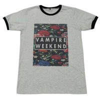 Vampire Weekend floral indie punk rock music T-Shirt / GV154.4 size M