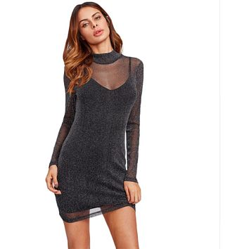 Women Mesh Party Dress