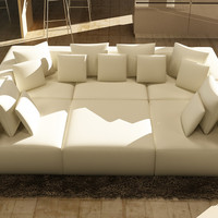 Divani Casa 206 Modern White Bonded Leather Sectional Sofa