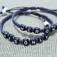 Her One His Only Couples Bracelets ,Boyfriend Girlfriend Jewelry,Anniversary Gifts