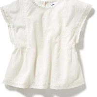 Old Navy Lace Trim Top For Baby