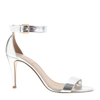 MIRROR METALLIC HIGH-HEEL SANDALS