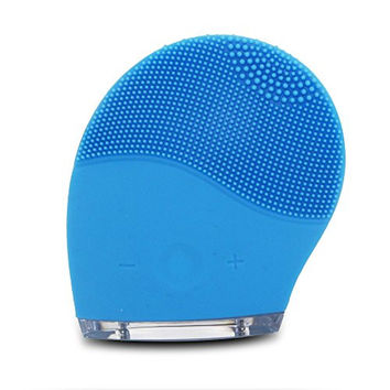 Eoffer Hailicare Face Care !Spinary Super Face Wash Machine Soft Silicone Facial Brush Cleanser New Waterproof Design Facial Dirt Remove (Blue)