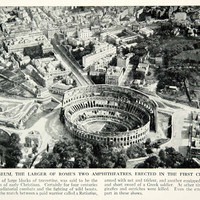 1938 Print Rome Colosseum Aerial View Architecture Historical Image Italy XGGD4