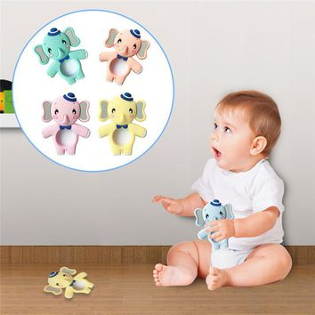 Elephant Shaped Silicone Teether Soft Chew Baby Toy
