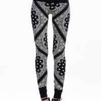 Paisley Mix Print Leggings