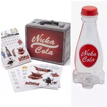Fallout Nuka Cola Bottle and Lunch Box Tin Tote Replica Fallout 76