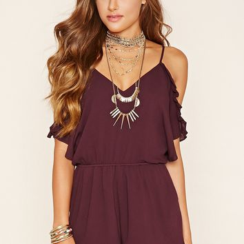 Open-Shoulder Romper