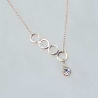 Statement Necklace,Rose gold Necklace, Bridesmaid Necklace, Bridal Necklace, Bib Necklace, Best Bridesmaid Gift
