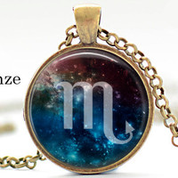 Scorpio necklace pendant jewelry zodiac jewelry zodiac signs birthday gift gift for him for her gift under 15 gift under 20