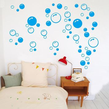 Kids Bubble Bathroom Window Shower Tile Decal Wall Sticker