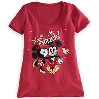 Mickey and Minnie Mouse Smack! Tee for Women