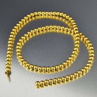 Antique Edwardian Gold Bead Choker Necklace