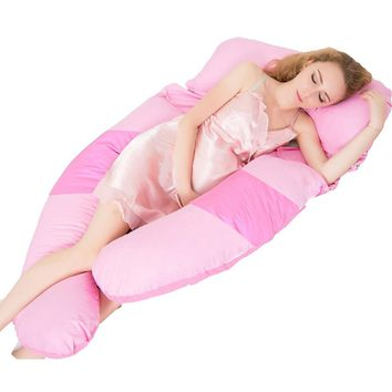 Sleeping Support Pillow For Pregnant Women Body Comfort Full Body Contour Pregnancy U Pillow Pregnancy Side Sleepers Bedding BS
