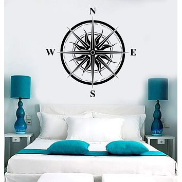 Vinyl Wall Decal Wind Rose Sun Nautical House Interior Stickers Mural Unique Gift (ig3998)