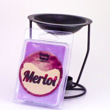 Merlot Wine Wax Melt (Soy Wax, No Phthalates, Vegan, Hand Poured), 3 oz. Smells like the Red Wine w/ Grape & Plum notes