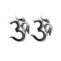Om Stud Sterling Silver Earrings on Sale for $12.95 at HippieShop.com