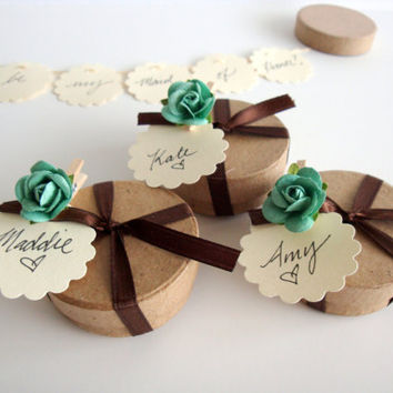 FIVE (5) Secret Garland message in a box - Will you be my bridesmaid, bridesmaid invitation, maid of honor