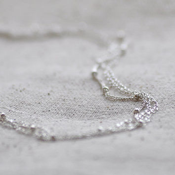 Nebula silver delicate multichain layered sterling silver by edor