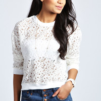 Cindy All Over Lace Sweatshirt
