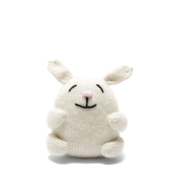 Knit Alpaca Stuffed Mini Bunny