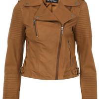 Tan Authentic Leather Jacket - Coats & Jackets  - Apparel
