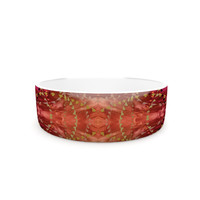 "Nikposium ""Summer"" Red Orange Pet Bowl"