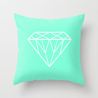 Tiffany Mint Diamond Design Throw Pillow by Rex Lambo | Society6