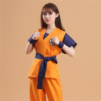 Free Shipping Cosplay Dragon Ball Z Son Goku Turtle and Wu Costumes Halloween and Christmas for party Japan Anime Unisex
