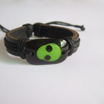 Cool ET alien Martian leather bracelets Jewelry