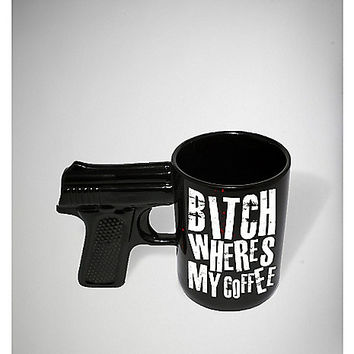 Bitch Where's My Coffee? Gun Mug - Spencer's