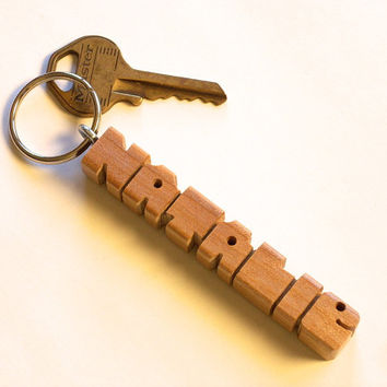 Birch Wood Name Keychain - Any Name Handmade to Order and Shipped within 3 Days