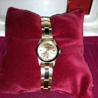 Elegant and Luxury Rolex Oyester Perpetual 18K Yellow Gold Wrist Watch for Women