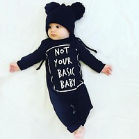 New 2016 Fashion Baby Rompers Long Sleeve Letter Baby Boy Clothing Children Jumpsuits Infant Clothing Newborn Baby Girl Clothes